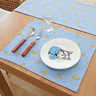 abordables Salvamanteles-Gráfico Poliéster / Mezcla de Lino Cuadrado Juego de Mesa Decoraciones de mesa