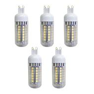 お買い得  LED コーン型電球-5個 5W 420lm G9 LEDコーン型電球 48 LEDビーズ SMD 5050 LEDライト 温白色 220-240V