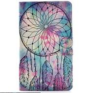 Недорогие Чехлы и кейсы для Samsung Tab-Кейс для Назначение SSamsung Galaxy Tab 3 Lite Бумажник для карт со стендом Флип С узором Чехол Ловец снов Твердый Кожа PU для Tab 3 Lite