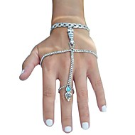 Women's Ring Bracelet Turquoise Bohemian Gift Alloy Circle Jewelry Gift Daily