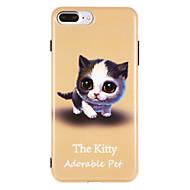 Недорогие Кейсы для iPhone 8 Plus-Кейс для Назначение Apple iPhone X iPhone 8 IMD С узором Кейс на заднюю панель Кот Мягкий ТПУ для iPhone X iPhone 8 Pluss iPhone 8 iPhone