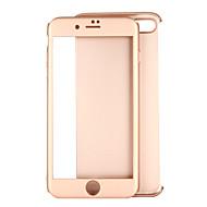Недорогие Кейсы для iPhone 8-Кейс для Назначение Apple iPhone X / iPhone 8 Защита от удара Чехол Однотонный Твердый ПК для iPhone X / iPhone 8 Pluss / iPhone 8