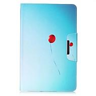 Недорогие Чехлы и кейсы для Galaxy Tab E 9.6-Кейс для Назначение Samsung Tab 4 7.0 Tab E 9.6 Бумажник для карт Кошелек со стендом С узором Авто Режим сна / Пробуждение Чехол