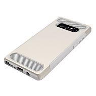 Недорогие Чехлы и кейсы для Galaxy Note 8-Кейс для Назначение SSamsung Galaxy Note 8 Защита от удара Кейс на заднюю панель Сплошной цвет Твердый ПК для Note 8