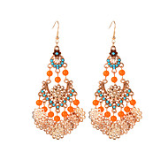cheap Jewelry & Watches-Women's Synthetic Tanzanite Drop Earrings - Resin Flower Bohemian, Fashion, Boho Black / Orange For Party / Going out