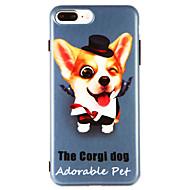 Недорогие Кейсы для iPhone 8 Plus-Кейс для Назначение Apple iPhone X iPhone 8 IMD С узором Кейс на заднюю панель С собакой Мягкий ТПУ для iPhone X iPhone 8 Pluss iPhone 8