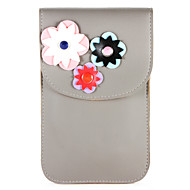 billige Etuier til iPhone 8 Plus-Etui Til Apple iPhone X iPhone 8 Kortholder Lommebok Lomme Blomsternål i krystall Myk PU Leather til iPhone X iPhone 8 Plus iPhone 8