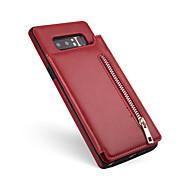 Недорогие Чехлы и кейсы для Galaxy Note-Кейс для Назначение Samsung Note 8 Бумажник для карт Кошелек Кейс на заднюю панель Сплошной цвет Мягкий Кожа PU для Note 8