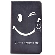 Недорогие Чехлы и кейсы для Galaxy Tab 4 8.0-Кейс для Назначение SSamsung Galaxy Tab 4 8.0 Бумажник для карт / со стендом / Флип Чехол Слова / выражения Твердый Кожа PU для Tab 4 8.0