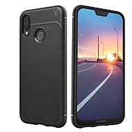 tanie Etui na telefony-Kılıf Na Huawei P20 lite P20 Odporne na wstrząsy Szron Czarne etui Jendolity kolor Miękkie TPU na Huawei P20 lite Huawei P20 Pro