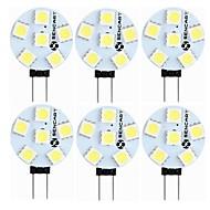 SENCART 6ks 1.5 W 60-80 lm G4 LED Bi-pin světla T 6 LED korálky SMD 5050 Ozdobné Teplá bílá Bílá 12 V
