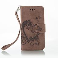 お買い得  携帯電話ケース-ケース 用途 Nokia Lumia 650 / Lumia 640 ウォレット / カードホルダー / スタンド付き フルボディーケース 純色 / バタフライ ハード PUレザー のために Nokia Lumia 650 / Nokia Lumia 640