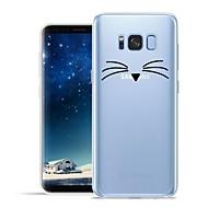 Недорогие Чехлы и кейсы для Galaxy S7-Кейс для Назначение SSamsung Galaxy S8 Plus S8 С узором Кейс на заднюю панель Кот Животное Мягкий ТПУ для S8 Plus S8 S7 edge S7 S6 edge