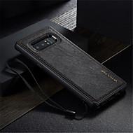 Недорогие Чехлы и кейсы для Galaxy Note 8-Кейс для Назначение SSamsung Galaxy Note 8 Защита от удара Ультратонкий Своими руками Кейс на заднюю панель Сплошной цвет Твердый Кожа PU