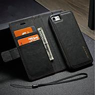 Недорогие Кейсы для iPhone 8 Plus-Кейс для Назначение Apple iPhone X iPhone 8 Бумажник для карт Кошелек со стендом Чехол Сплошной цвет Твердый Кожа PU для iPhone X iPhone