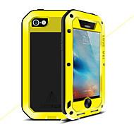 お買い得  -ケース 用途 Apple iPhone 5ケース 水/汚れ/ショックプルーフ フルボディーケース 純色 ハード メタル のために iPhone SE/5s iPhone 5 iPhone 4s/4
