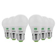お買い得  LED ボール型電球-YWXLIGHT® 6本 3W 200-300lm E26 / E27 LEDボール型電球 6 LEDビーズ SMD 5730 装飾用 温白色 クールホワイト 12-24V