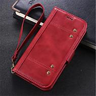 Недорогие Чехлы и кейсы для Galaxy S7-Кейс для Назначение SSamsung Galaxy S8 Plus S7 edge Бумажник для карт Кошелек Защита от удара со стендом Флип Чехол Сплошной цвет Твердый