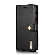 Недорогие Чехлы и кейсы для Galaxy А-Кейс для Назначение SSamsung Galaxy A7(2017) Бумажник для карт со стендом Флип Чехол Сплошной цвет Твердый Настоящая кожа для A7 (2017)