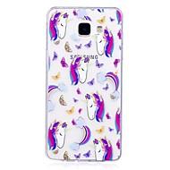 Недорогие Чехлы и кейсы для Galaxy A5(2017)-Кейс для Назначение SSamsung Galaxy A5(2017) A3(2017) Полупрозрачный С узором Кейс на заднюю панель единорогом Мягкий ТПУ для A3 (2017)