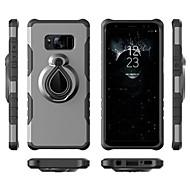 Недорогие Чехлы и кейсы для Galaxy S-Кейс для Назначение SSamsung Galaxy S9 S9 Plus Защита от удара Кольца-держатели Кейс на заднюю панель броня Мягкий ТПУ для S9 Plus S9 S8