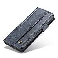 Недорогие Чехлы и кейсы для Galaxy S9-Кейс для Назначение SSamsung Galaxy S9 Бумажник для карт Кошелек Флип Чехол Однотонный Твердый Кожа PU для S9