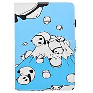 Недорогие Чехлы и кейсы для Samsung Tab-Кейс для Назначение SSamsung Galaxy Tab A 8.0 Бумажник для карт со стендом Флип С узором Авто Режим сна / Пробуждение Чехол Мультипликация