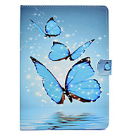 Недорогие Чехлы и кейсы для Galaxy Tab E 9.6-Кейс для Назначение SSamsung Galaxy Tab E 9.6 / Tab A 9.7 / Tab A 10.1 (2016) Бумажник для карт / Защита от удара / со стендом Чехол Бабочка Твердый Кожа PU для Tab E 9.6 / Tab A 9.7 / Tab A 10.1