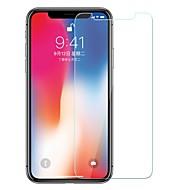 Недорогие Защитные плёнки для экрана iPhone-Защитная плёнка для экрана Apple для iPhone X Закаленное стекло 1 ед. Защитная пленка для экрана Взрывозащищенный Уровень защиты 9H