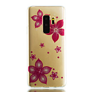 Недорогие Чехлы и кейсы для Galaxy S9 Plus-Кейс для Назначение SSamsung Galaxy S9 S9 Plus IMD Прозрачный С узором Сияние и блеск Кейс на заднюю панель Цветы Сияние и блеск Мягкий