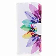 Недорогие Чехлы и кейсы для Galaxy А-Кейс для Назначение SSamsung Galaxy A8 2018 A8 Plus 2018 Бумажник для карт Кошелек со стендом С узором Чехол Цветы Твердый Кожа PU для A3