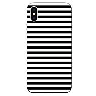 Недорогие Кейсы для iPhone 8-Кейс для Назначение Apple iPhone X / iPhone 8 С узором Кейс на заднюю панель Полосы / волосы Мягкий ТПУ для iPhone X / iPhone 8 Pluss / iPhone 8