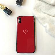 Недорогие Кейсы для iPhone 8-Кейс для Назначение Apple iPhone X iPhone 7 Plus С узором Кейс на заднюю панель С сердцем Твердый Закаленное стекло для iPhone X iPhone 8
