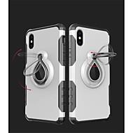 Недорогие Кейсы для iPhone 8 Plus-Кейс для Назначение Apple iPhone X iPhone 8 Защита от удара Кольца-держатели Кейс на заднюю панель броня Мягкий ТПУ для iPhone X iPhone 8