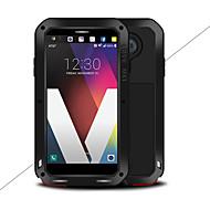 お買い得  携帯電話ケース-ケース 用途 LG V20 水/汚れ/ショックプルーフ フルボディーケース 純色 ハード メタル のために LG V20