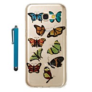 cheap Samsung Accessories-Case For Samsung Galaxy A5(2017) A3(2017) IMD Pattern Glitter Shine Back Cover Butterfly Soft TPU for A3(2017) A5(2017)