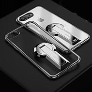 Недорогие Кейсы для iPhone 8-Кейс для Назначение Apple iPhone 7 Plus iPhone 7 Защита от удара со стендом Кейс на заднюю панель Сплошной цвет Мягкий ТПУ для iPhone 8