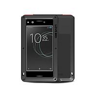 お買い得  携帯電話ケース-ケース 用途 Sony Xperia XZ Premium 水/汚れ/ショックプルーフ フルボディーケース 純色 ハード メタル のために Sony Xperia XZ Premium