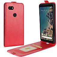 preiswerte Handyhüllen-Hülle Für Google Pixel 2 XL Pixel 2 Kreditkartenfächer Flipbare Hülle Ganzkörper-Gehäuse Volltonfarbe Hart PU-Leder für Pixel 2 XL Pixel 2