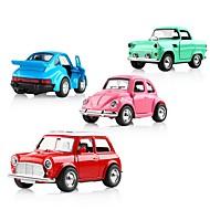 abordables Coches y miniaturas de juguete-Sound light Collection Brinquedos Car Vehicle Toys Coches de juguete Coche clásico Música Vehículos Coche Exquisito Aleación de Metal Niños Chico Chica Juguet Regalo 1 pcs