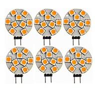 halpa -SENCART 6kpl 1.5 W LED Bi-Pin lamput 270 lm G4 T 9 LED-helmet SMD 5050 Koristeltu Lämmin valkoinen 12 V / CE