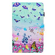 preiswerte Tablet Zubehör-Hülle Für Amazon Kindle Fire hd 7.0 Kreditkartenfächer / Stoßresistent / mit Halterung Ganzkörper-Gehäuse Schmetterling Hart PU-Leder für Kindle Fire hd 7.0