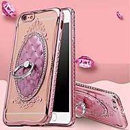 Недорогие Кейсы для iPhone 8-Кейс для Назначение Apple iPhone 8 Plus iPhone 6 Plus iPhone 7 Защита от удара Кольца-держатели Кейс на заднюю панель Сплошной цвет Мягкий