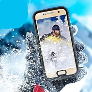 Недорогие Чехлы и кейсы для Galaxy S8-Кейс для Назначение SSamsung Galaxy S8 Plus S7 edge Защита от удара Водонепроницаемый со стендом Чехол Сплошной цвет Твердый пластик для