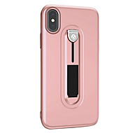Недорогие Кейсы для iPhone 8 Plus-Кейс для Назначение Apple iPhone X iPhone 8 со стендом Кейс на заднюю панель Сплошной цвет Мягкий ТПУ для iPhone X iPhone 8 Pluss iPhone