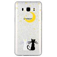 Χαμηλού Κόστους Galaxy J3(2017) Θήκες / Καλύμματα-tok Για Samsung Galaxy J5 (2017) J3 (2017) Ημιδιαφανές Με σχέδια Πίσω Κάλυμμα Γάτα Λάμψη γκλίτερ Κινούμενα σχέδια Μαλακή TPU για J7