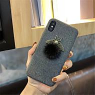 Недорогие Кейсы для iPhone 8 Plus-Кейс для Назначение Apple iPhone X iPhone 7 Plus С узором Кейс на заднюю панель Сплошной цвет Мягкий текстильный для iPhone X iPhone 8