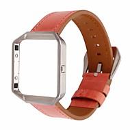 Недорогие Аксессуары для смарт-часов-Ремешок для часов для Fitbit Blaze Fitbit Кожаный ремешок Натуральная кожа Повязка на запястье