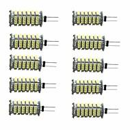 10pcs 3W 350 lm G4 LED Bi-pin Lights T 1 leds SMD 3528 Decorative Warm White Cold White DC 12V