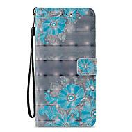 Недорогие Чехлы и кейсы для Galaxy S8-Кейс для Назначение SSamsung Galaxy S9 S9 Plus Бумажник для карт Кошелек со стендом Флип С узором Чехол Цветы Кружева Печать Твердый Кожа